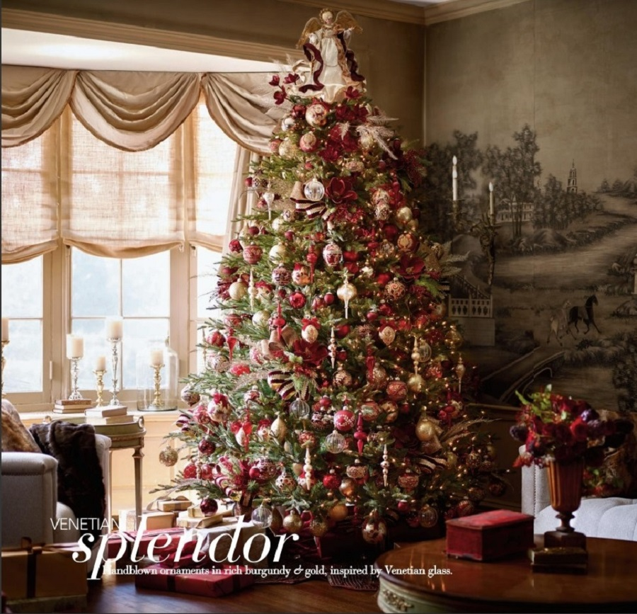Christmas Decor: Bedrooms – Red, Burgundy, Ecru & Gold Ornaments   It's Ever Christmas!